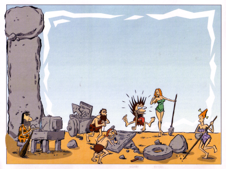 Cavemen&cavewomen© All rights reserved Loran Skinkis Art