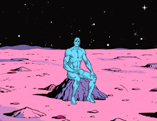 Dr. Manhattan : All by myself.