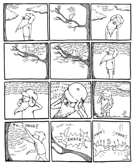 """Tales of Woodsman Pete"", página 7. Copyright 2006, Lilli Carré."