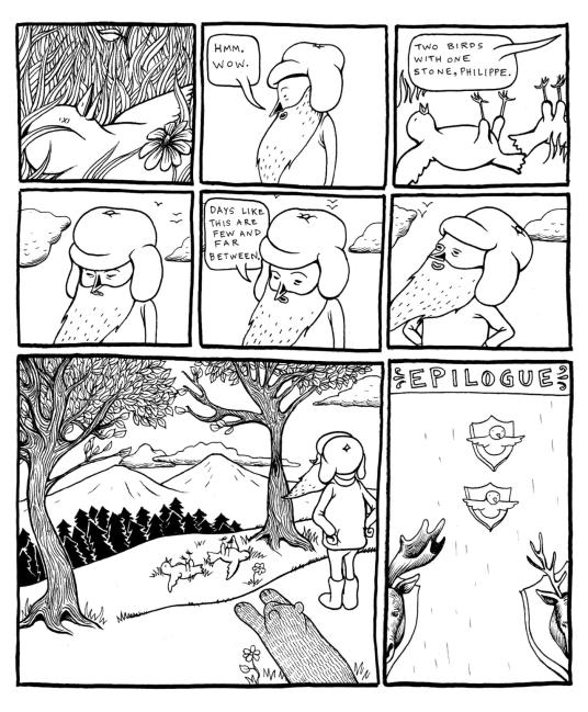 """Tales of Woodsman Pete"", página 8. Copyright 2006, Lilli Carré."